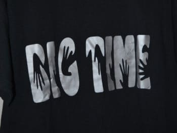 tee shirt noir inscription big time