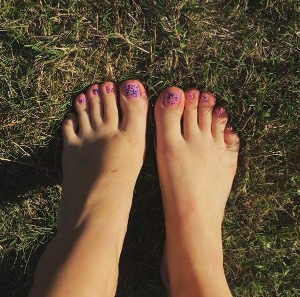 pied paillettes